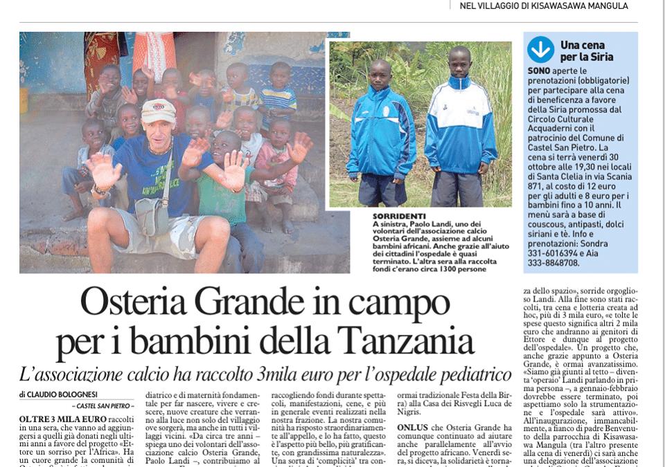 In campo per la Tanzania